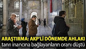 Araştırma: AKP'li dönemde ahlakı tanrı inancına bağlayanların oranı düştü