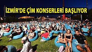 İzmir'de çim konserleri başlıyor