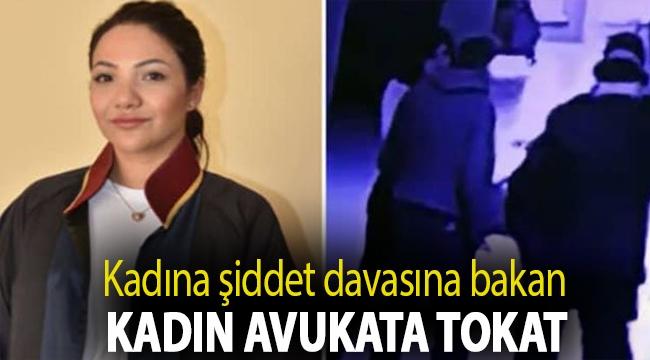 Kadına şiddet davasına bakan kadın avukata, adliye koridorunda tokat