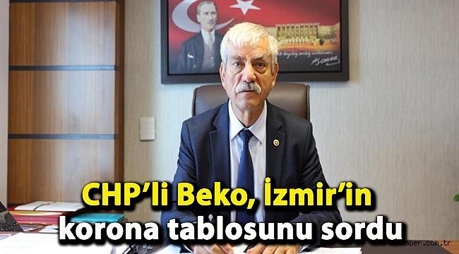 CHP'li Beko, İzmir'in korona tablosunu sordu
