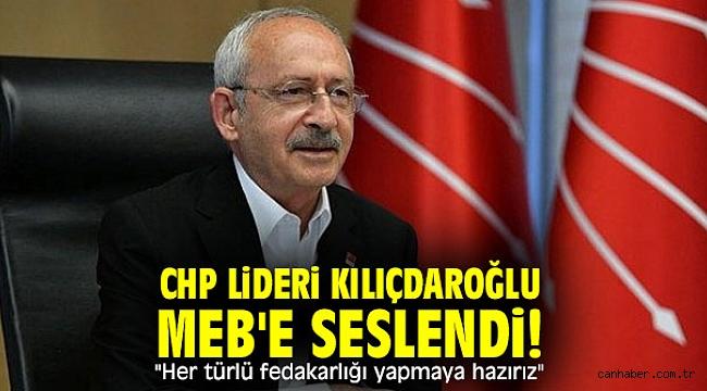CHP lideri Kılıçdaroğlu MEB'e seslendi!