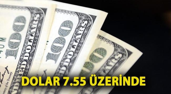 Dolar 7.55 üzerinde