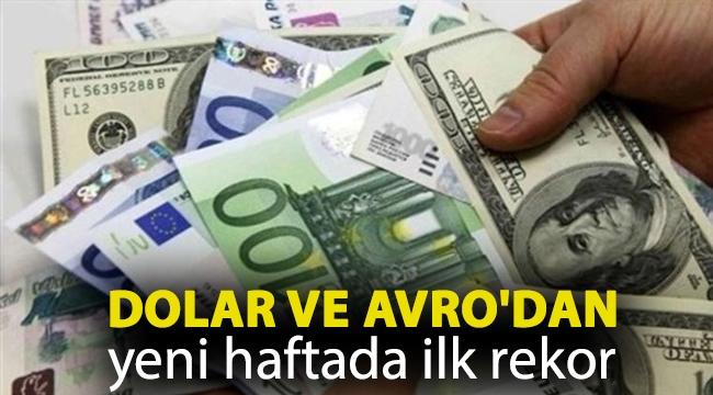 Dolar ve Avro'dan yeni haftada ilk rekor