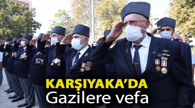 Karşıyaka'da Gazilere vefa