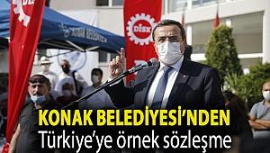Konak Belediyesi'nden Türkiye'ye örnek sözleşme