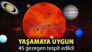 Yaşamaya uygun 45 gezegen tespit edildi
