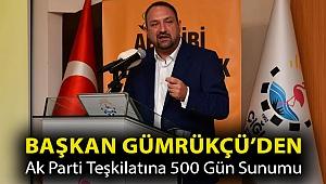 Başkan Gümrükçü'den Ak Parti Teşkilatına 500 Gün Sunumu
