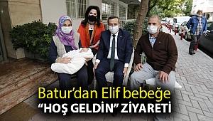 """Batur'dan Elif bebeğe """"hoş geldin"""" ziyareti"""