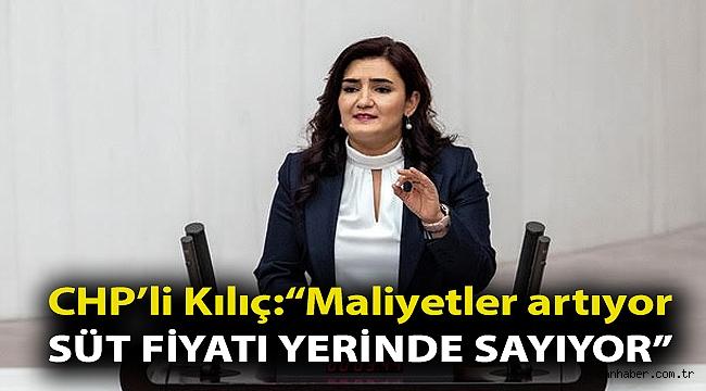 """CHP İzmir Milletvekili Av. Sevda Erdan Kılıç: """"Maliyetler artıyor süt fiyatı yerinde sayıyor"""""""