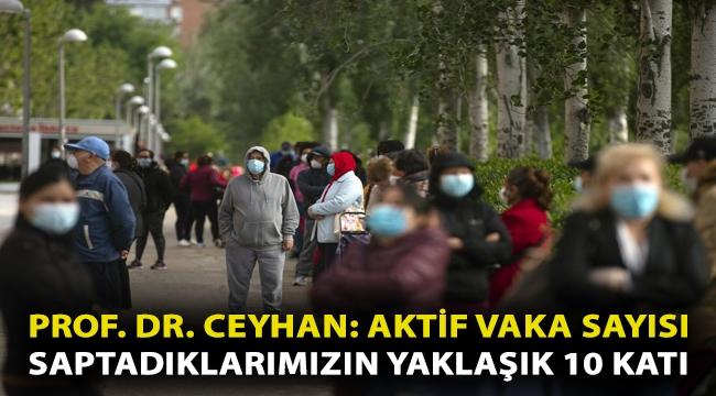 Prof. Dr. Ceyhan: Aktif vaka sayısı saptadıklarımızın yaklaşık 10 katı