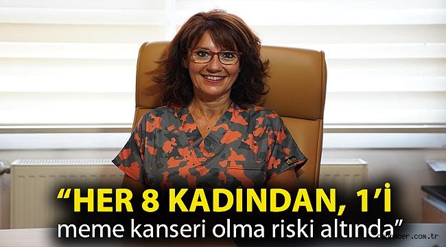 """Prof. Dr. Özsaran, """"Her 8 kadından, 1'i meme kanseri olma riski altında"""""""