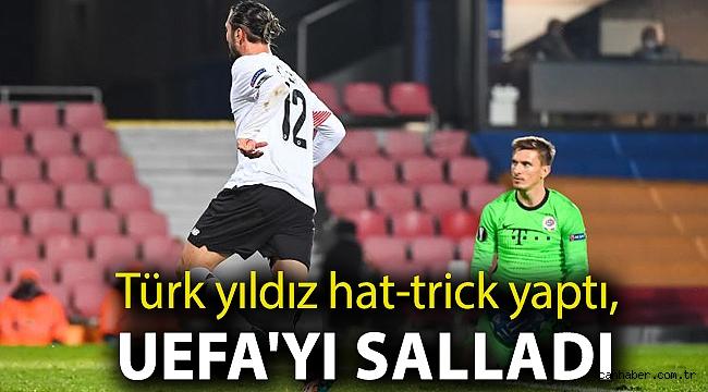 Türk yıldız hat-trick yaptı, UEFA'yı salladı