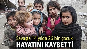 Afganistan'daki savaşta 14 yılda 26 bin çocuğun hayatını kaybettiği ya da yaralandığı açıklandı