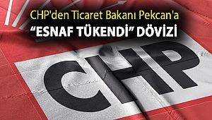 """CHP'den Ticaret Bakanı Pekcan'a """"Esnaf tükendi"""" dövizi"""