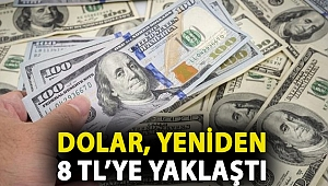 Dolar, faiz artırımı öncesindeki seviyesinin üzerine çıktı, yeniden 8 TL'ye yaklaştı