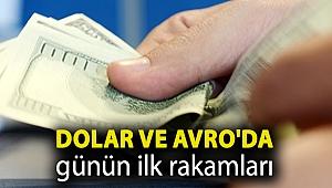 Dolar ve Avro'da günün ilk rakamları