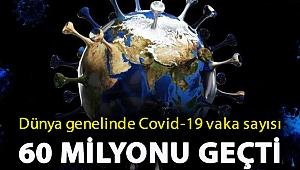 Dünya genelinde Covid-19 vaka sayısı 60 milyonu geçti