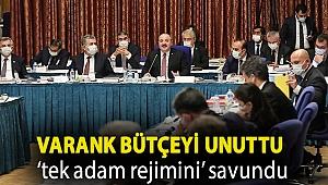 Varank bütçeyi unuttu 'tek adam rejimini' savundu