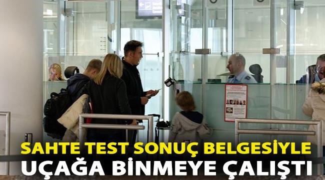 Almanya'da bir Türk sahte test sonuç belgesiyle uçağa binmeye çalıştı