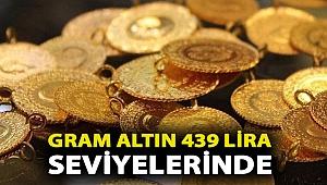 Gram altın 439 lira seviyelerinde