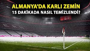 Bayern 2-0 geriye düştüğü maçta Bielefeld ile 3-3 berabere kaldı, karlı zemin 15 dakikada temizlendi