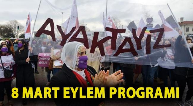 8 Mart eylem programı