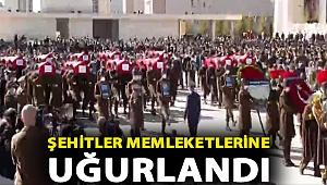 Bitlis'te helikopter düştü, 11 şehit! Şehitler uğurlandı