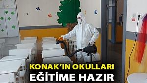 Konak'ın okulları eğitime hazır