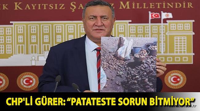"""CHP'li Gürer: """"Patateste sorun bitmiyor"""""""