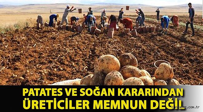Erdoğan'ın patates ve soğan kararından üreticiler memnun değil