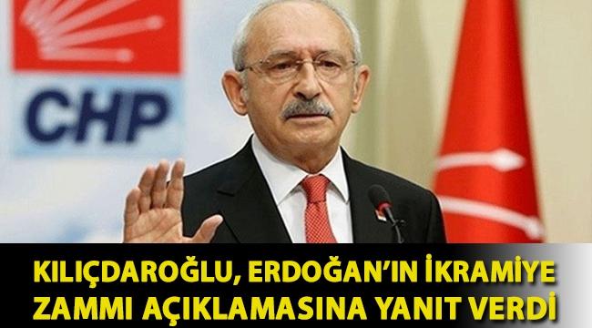 Kılıçdaroğlu, Erdoğan'ın ikramiye zammı açıklamasına yanıt verdi