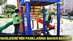 Narlıdere'nin parklarına bahar bakımı!