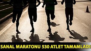 Sanal maratonu 530 atlet tamamladı