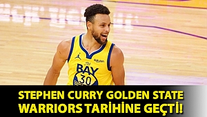 Stephen Curry Golden State Warriors tarihine geçti!