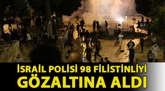 İsrail polisi 98 Filistinliyi gözaltına aldı