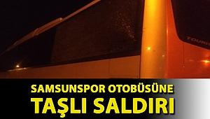 Samsunspor otobüsüne taşlı saldırı