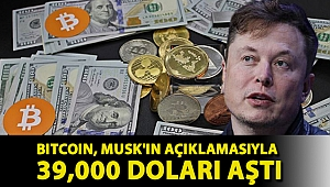 Bitcoin, Musk'ın açıklamasıyla 39,000 doları aştı