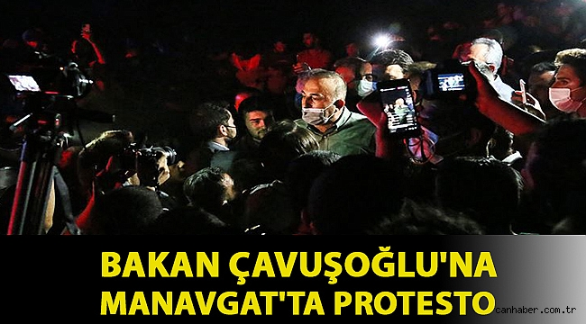 Bakan Çavuşoğlu Manavgat'ta yurttaşlarla bir araya geldi, kalabalıktan tepkiler yükseldi
