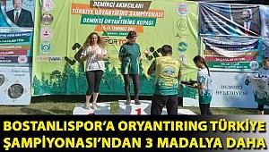 Bostanlıspor'a oryantiring Türkiye Şampiyonası'ndan 3 madalya daha…
