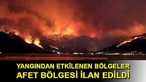 Erdoğan açıkladı: Yangından etkilenen bölgeler afet bölgesi ilan edildi