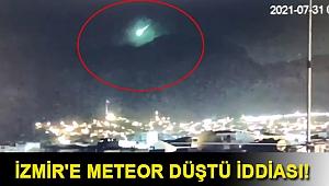 İzmir'e meteor düştü iddiası! Sosyal medyayı heyecanlandıran görüntü