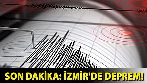 Son dakika: İzmir'de deprem!