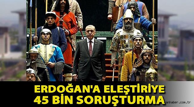 Yargı sistemi de yeni sisteme uydu: Erdoğan'a eleştiriye 45 bin soruşturma