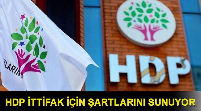 HDP ittifak için şartlarını sunuyor