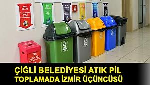 Çiğli Belediyesi Atık Pil Toplamada İzmir Üçüncüsü