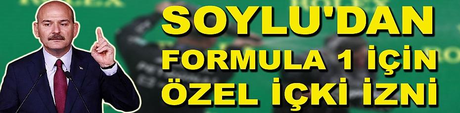 Soylu'dan Formula 1 için özel içki izni